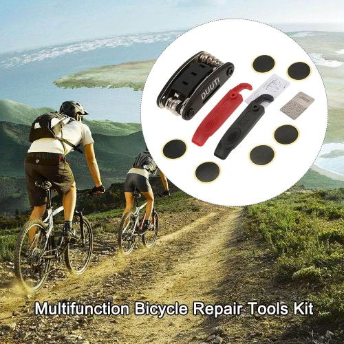 Multifunction Bicycle Repair Tools Kit MTB Mountain Bike Repair Tool Hex Wrench Cycling Screwdriver Tool Patches Rasp Tire LeversSports &amp; Outdoor<br>Multifunction Bicycle Repair Tools Kit MTB Mountain Bike Repair Tool Hex Wrench Cycling Screwdriver Tool Patches Rasp Tire Levers<br>
