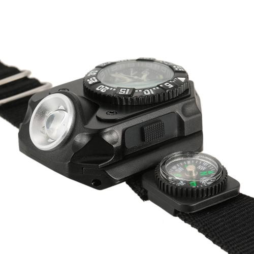3-in-1 Super Bright LED Watch Flashlight Torch Compass Outdoor Sports Rechargeable Wrist Watch LampSports &amp; Outdoor<br>3-in-1 Super Bright LED Watch Flashlight Torch Compass Outdoor Sports Rechargeable Wrist Watch Lamp<br>