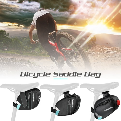 ROSWHEEL Bicycle Saddle Bag Pocket Water Resistant MTB Bike Rear Bags Cycling Rear Seat Tail Bag AccessoriesSports &amp; Outdoor<br>ROSWHEEL Bicycle Saddle Bag Pocket Water Resistant MTB Bike Rear Bags Cycling Rear Seat Tail Bag Accessories<br>