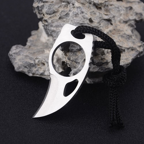 Outdoor Camping Carabiner Survival Finger Claw Knife Hook Fixed Ring Card EDC Tool Mini Pocket Knife with Leather SheathSports &amp; Outdoor<br>Outdoor Camping Carabiner Survival Finger Claw Knife Hook Fixed Ring Card EDC Tool Mini Pocket Knife with Leather Sheath<br>