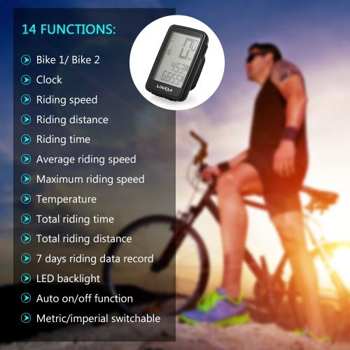 Lixada USB Rechargeable Wireless Bike ComputerSports &amp; Outdoor<br>Lixada USB Rechargeable Wireless Bike Computer<br>