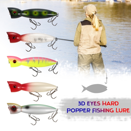 14cm Large Popper Lure Artificial Seal Lure 3D Eyes Hard Popper Fishing Lure with Hooks and Ring for Saltwater FreshwaterSports &amp; Outdoor<br>14cm Large Popper Lure Artificial Seal Lure 3D Eyes Hard Popper Fishing Lure with Hooks and Ring for Saltwater Freshwater<br>