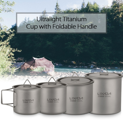 Lixada Ultralight Titanium CupSports &amp; Outdoor<br>Lixada Ultralight Titanium Cup<br>