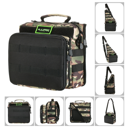 Sports Single Shoulder Fishing Tackle Bag Backpack or Crossbody Messenger Sling Bags for Camping Hiking Cycling Outdoors SportSports &amp; Outdoor<br>Sports Single Shoulder Fishing Tackle Bag Backpack or Crossbody Messenger Sling Bags for Camping Hiking Cycling Outdoors Sport<br>