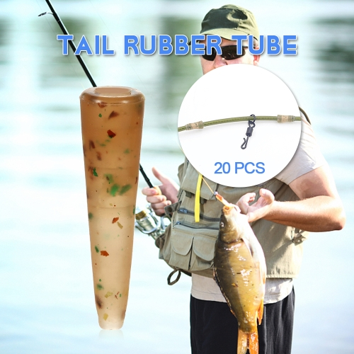 20PCS Anti-tangle Sleeves Tail Rubber Tube Carp Fishing Tackle Fishing Terminal AccessoriesSports &amp; Outdoor<br>20PCS Anti-tangle Sleeves Tail Rubber Tube Carp Fishing Tackle Fishing Terminal Accessories<br>