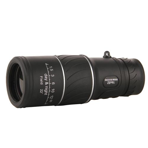 Portable 16 * 52  Adjustable Single Telescope Full Optical Night Vision Hiking