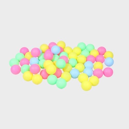 Высокое качество Ping Pong Balls Ассорти Бессловесный настольный теннис Пластиковый бал Bulk Красочный пластик Бесшовные украшения Touch Ball Lottery Draw Пивной понг