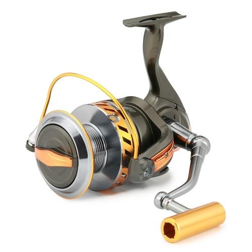 12 + 1 BB釣りリールスピニングリール左/右交換可能な折り畳み式ハンドルボート海釣りリールロングキャスティングリール33LB