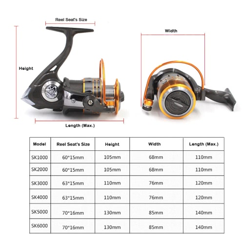 12+1 Ball Bearings Spinning Fishing Reel Left / Right Interchangeable Handle High Speed Fish ReelSports &amp; Outdoor<br>12+1 Ball Bearings Spinning Fishing Reel Left / Right Interchangeable Handle High Speed Fish Reel<br>