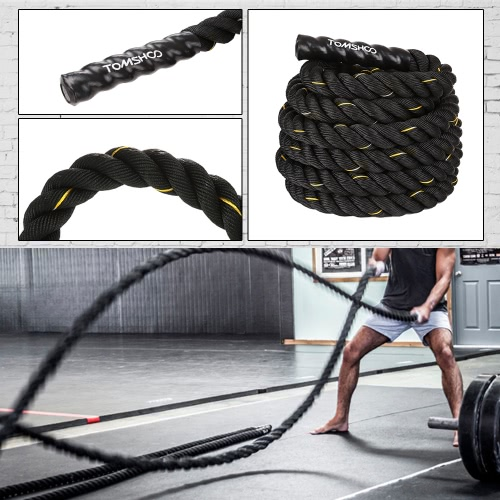 50mm Diameter 15m length TOMSHOO Battle Training Undulation RopeSports &amp; Outdoor<br>50mm Diameter 15m length TOMSHOO Battle Training Undulation Rope<br>