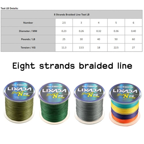 Lixada 500M Super Strong Multifilament Polyethylene Braided Fishing Line 25LB to 60LBSports &amp; Outdoor<br>Lixada 500M Super Strong Multifilament Polyethylene Braided Fishing Line 25LB to 60LB<br>