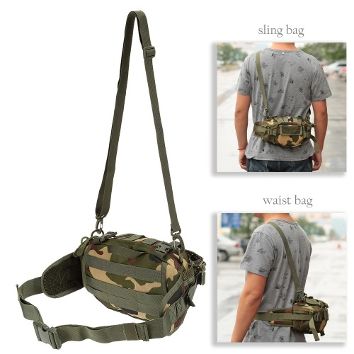 Lixada Men Nylon Portable Versatile Tactical Pack Waist Shoulder Pack for Camping Hiking OutdoorSports &amp; Outdoor<br>Lixada Men Nylon Portable Versatile Tactical Pack Waist Shoulder Pack for Camping Hiking Outdoor<br>