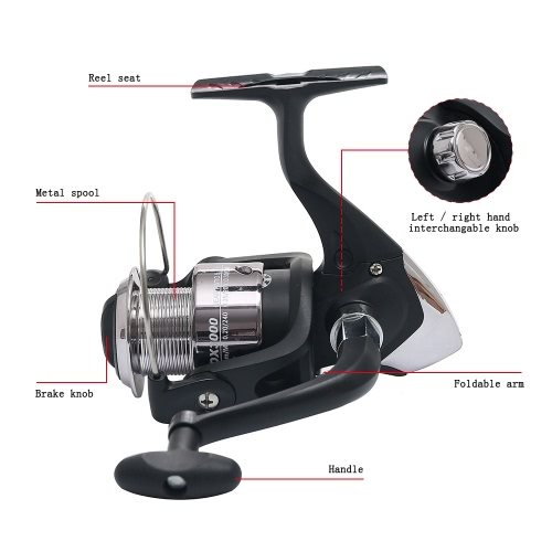 6 Ball Bearings Spinning Fishing Reel Portable Metal Fish Reel Interchangeable HandleSports &amp; Outdoor<br>6 Ball Bearings Spinning Fishing Reel Portable Metal Fish Reel Interchangeable Handle<br>