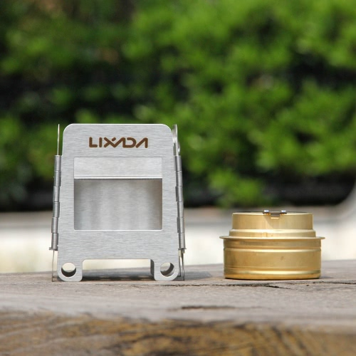 Lixada Portable Stainless Steel Lightweight Folding Wood Stove Pocket Stove Outdoor Camping Cooking Picnic Backpacking Stove withSports &amp; Outdoor<br>Lixada Portable Stainless Steel Lightweight Folding Wood Stove Pocket Stove Outdoor Camping Cooking Picnic Backpacking Stove with<br>