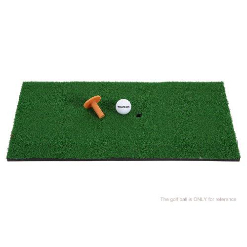 TOMSHOO 60*30cm Golf Mat Residential Practice Hitting Mat Rubber Tee HolderSports &amp; Outdoor<br>TOMSHOO 60*30cm Golf Mat Residential Practice Hitting Mat Rubber Tee Holder<br>