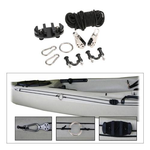 Kit qualità Kayak alta Anchor Trolley Cleat Set con pozzo Dadi viti in acciaio inox Rivetti