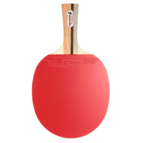 Manija de madera Mesa de ping pong raqueta de ping-pong de la paleta del palo de la hoja de la raqueta Shakehand Grip con bolsa de transporte