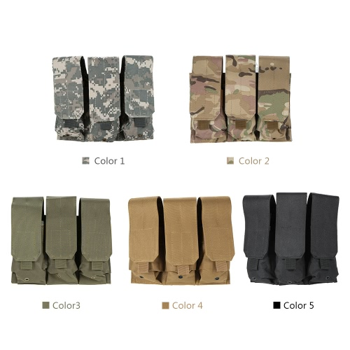 Tactical Pistol Modular Triple Magazine Pouch Military Army Combat Mag Pouch BagSports &amp; Outdoor<br>Tactical Pistol Modular Triple Magazine Pouch Military Army Combat Mag Pouch Bag<br>