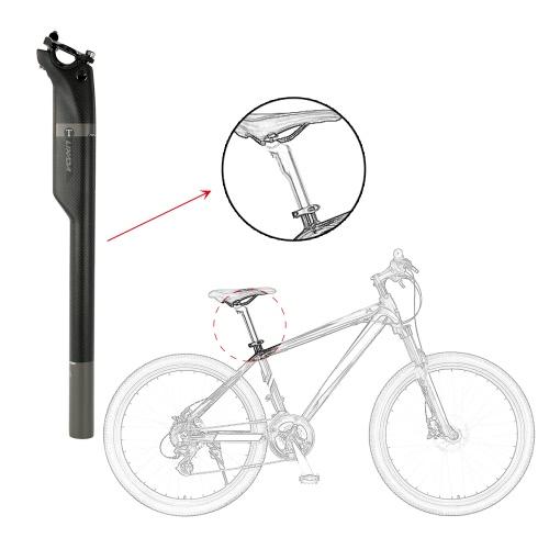 Lixada 3K Carbon Fiber Bicycle Seatpost Saddle Post MTB Mountain Road Bike Seat Tube Bike Cycling Seatpost 27.2mm/30.8mm/31.6mmSports &amp; Outdoor<br>Lixada 3K Carbon Fiber Bicycle Seatpost Saddle Post MTB Mountain Road Bike Seat Tube Bike Cycling Seatpost 27.2mm/30.8mm/31.6mm<br>
