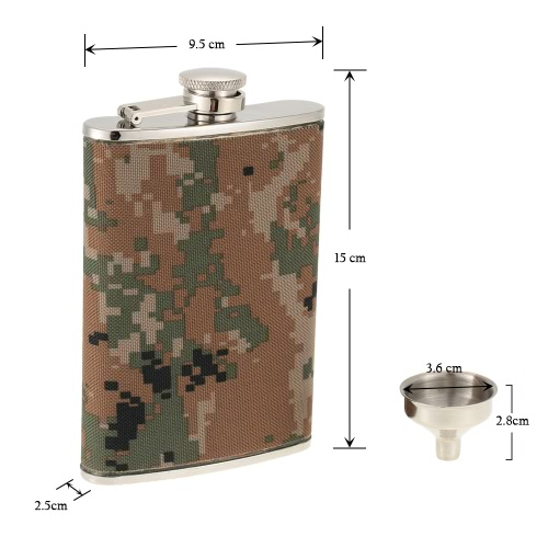 Outdoor Camping Stainless Steel Hip Flask with Small Funnel Alcohol Liquor Wine Flagon Mens GiftSports &amp; Outdoor<br>Outdoor Camping Stainless Steel Hip Flask with Small Funnel Alcohol Liquor Wine Flagon Mens Gift<br>