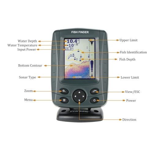 Portable 3.5 LCD Fishing Finder Outdoor Fishing Sonar SensorSports &amp; Outdoor<br>Portable 3.5 LCD Fishing Finder Outdoor Fishing Sonar Sensor<br>