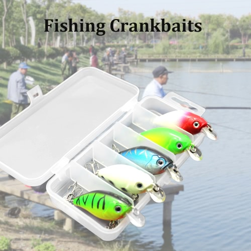 5pcs Fishing Lures Hard Baits Crank Baits Crankbaits in Storage BoxSports &amp; Outdoor<br>5pcs Fishing Lures Hard Baits Crank Baits Crankbaits in Storage Box<br>