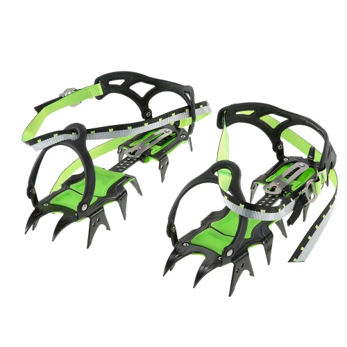 14-point Manganese Steel Climbing Gear Crampons Ice Grippers Crampon Traction Device Mountaineering Glacier Travel Ice WaikingSports &amp; Outdoor<br>14-point Manganese Steel Climbing Gear Crampons Ice Grippers Crampon Traction Device Mountaineering Glacier Travel Ice Waiking<br>