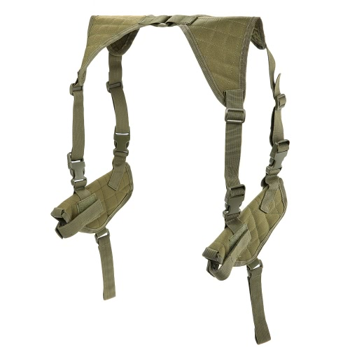 Tactical Double Horizontal Shoulder Holster Universal Military Adjustable Under Arm Double Carrier HolderSports &amp; Outdoor<br>Tactical Double Horizontal Shoulder Holster Universal Military Adjustable Under Arm Double Carrier Holder<br>