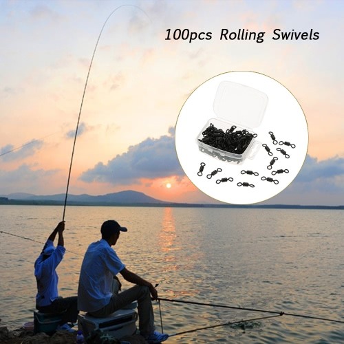 100pcs Rolling Swivels for Carp Rig Carp Fishing Accessory Tackle Compact BoxSports &amp; Outdoor<br>100pcs Rolling Swivels for Carp Rig Carp Fishing Accessory Tackle Compact Box<br>