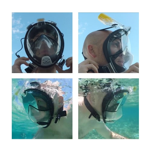 TOMSHOO Adult Male Swimming Diving Snorkel Mask with Action Gopro MountSports &amp; Outdoor<br>TOMSHOO Adult Male Swimming Diving Snorkel Mask with Action Gopro Mount<br>