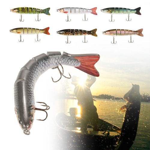 Lixada 13cm/19g Lifelike 6 Jointed Sections Trout Swimbait Fishing Lure Hard Bait Fish Hook Fishing TackleSports &amp; Outdoor<br>Lixada 13cm/19g Lifelike 6 Jointed Sections Trout Swimbait Fishing Lure Hard Bait Fish Hook Fishing Tackle<br>