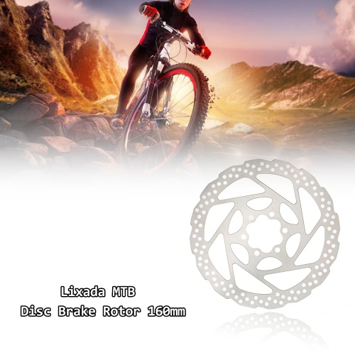 Lixada Bicycle Bike MTB Disc Brake Rotor Plate 6 Bolts 160mmSports &amp; Outdoor<br>Lixada Bicycle Bike MTB Disc Brake Rotor Plate 6 Bolts 160mm<br>