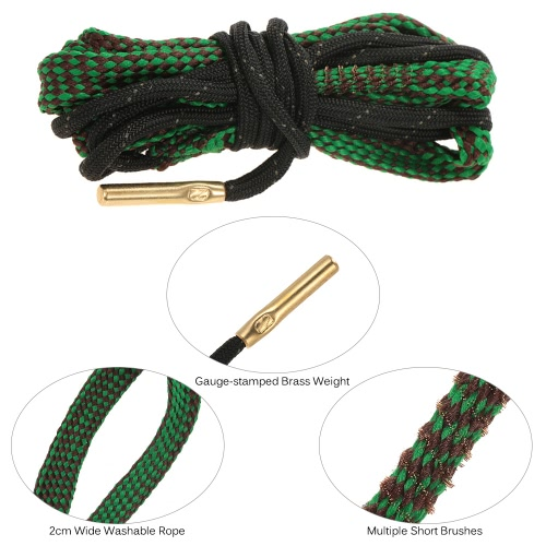 Rope Bore Cleaner Weapon Firearm Cleaning Kit Best Brass Weighted CordSports &amp; Outdoor<br>Rope Bore Cleaner Weapon Firearm Cleaning Kit Best Brass Weighted Cord<br>
