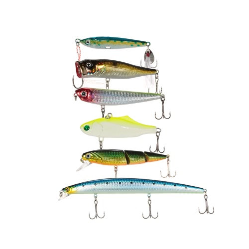 Lixada 8pcs Assorted Fishing Hard Lures Lifelike Segmented Lure Pencil Minnow Popper Lead Bait Saltwater Fishing Bait Kit with CasSports &amp; Outdoor<br>Lixada 8pcs Assorted Fishing Hard Lures Lifelike Segmented Lure Pencil Minnow Popper Lead Bait Saltwater Fishing Bait Kit with Cas<br>