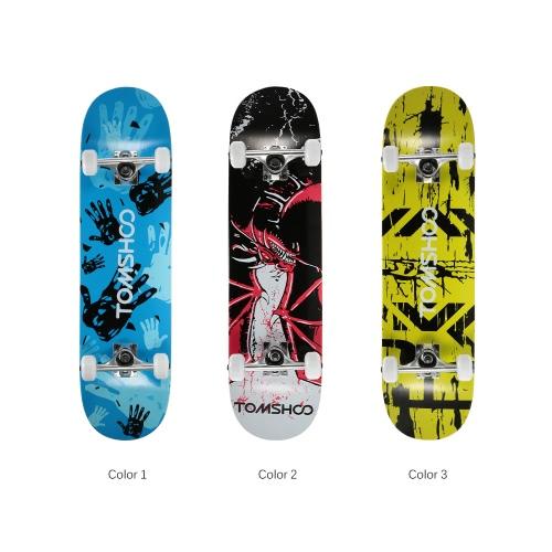 TOMSHOO 31 Pro Complete Skateboard Maple Wood Longboard Skate BoardSports &amp; Outdoor<br>TOMSHOO 31 Pro Complete Skateboard Maple Wood Longboard Skate Board<br>