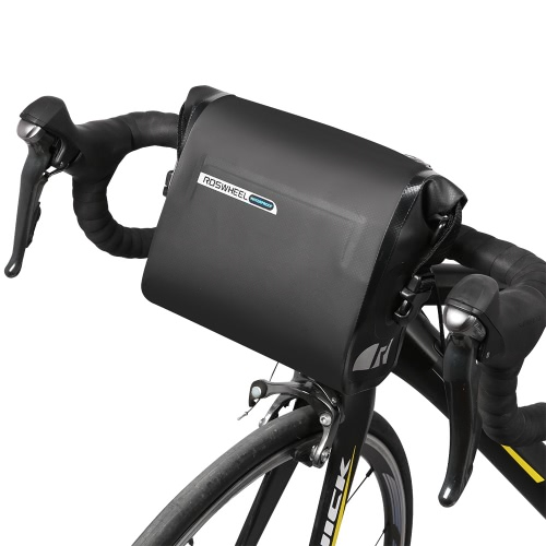 ROSWHEEL Bicycle Handlebar Bag Bike Front Basket Frame Tube Bag Cycling Pouch Pannier 2.5L-3L Adjustable Capacity for Mountain RoaSports &amp; Outdoor<br>ROSWHEEL Bicycle Handlebar Bag Bike Front Basket Frame Tube Bag Cycling Pouch Pannier 2.5L-3L Adjustable Capacity for Mountain Roa<br>