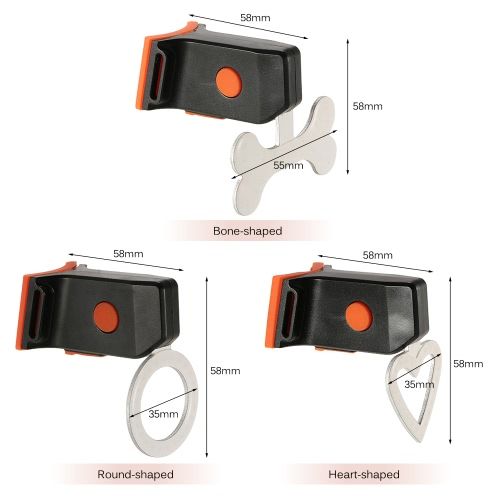 Bicycle LED Safety Warning Light Cycling Bike Taillight Tail Rear Light Lamp Heart/Round/Bone ShapedSports &amp; Outdoor<br>Bicycle LED Safety Warning Light Cycling Bike Taillight Tail Rear Light Lamp Heart/Round/Bone Shaped<br>
