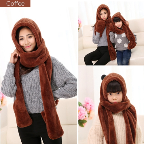 Parenting Style Autumn and Winter Collection Cute Extra Thick and Long Comfortable Warm Female Neck Scarf Hat Gloves Three PiecesSports &amp; Outdoor<br>Parenting Style Autumn and Winter Collection Cute Extra Thick and Long Comfortable Warm Female Neck Scarf Hat Gloves Three Pieces<br>