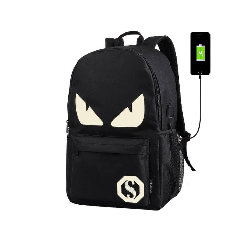 Fashion USB Charge Backpack with Anime LuminousSports &amp; Outdoor<br>Fashion USB Charge Backpack with Anime Luminous<br>
