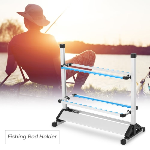 24 Fishing Rod Rack Holder Lightweight Aluminum Alloy Fishing Rod Fishing Pole Stand Shelf Mount Fishing Tackle HolderSports &amp; Outdoor<br>24 Fishing Rod Rack Holder Lightweight Aluminum Alloy Fishing Rod Fishing Pole Stand Shelf Mount Fishing Tackle Holder<br>