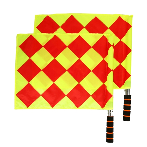 2Pcs Soccer Referee Flags Football Judge Sideline Sports Match Linesman FlagsSports &amp; Outdoor<br>2Pcs Soccer Referee Flags Football Judge Sideline Sports Match Linesman Flags<br>