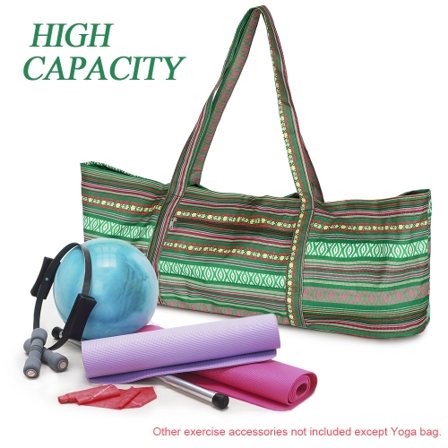 Yoga Mat Bags Yoga Tote Bag Carrier Stripe Printing Pattern with Pocket and ZipperSports &amp; Outdoor<br>Yoga Mat Bags Yoga Tote Bag Carrier Stripe Printing Pattern with Pocket and Zipper<br>