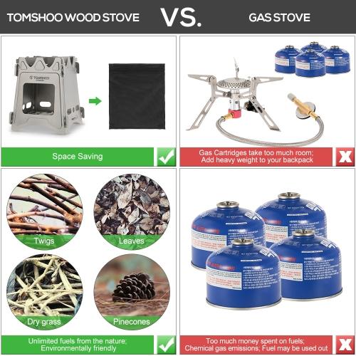 TOMSHOO Portable Folding Lightweight Titanium StoveSports &amp; Outdoor<br>TOMSHOO Portable Folding Lightweight Titanium Stove<br>