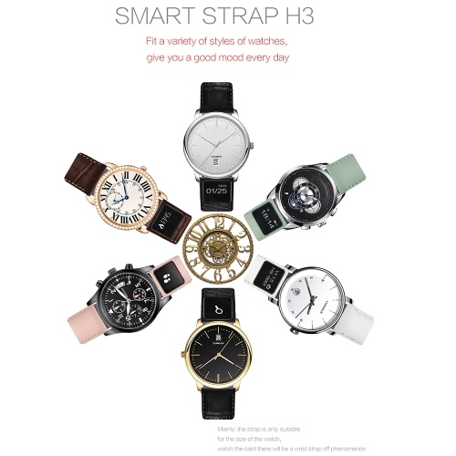 H3 20mm Leather Smart Watchband