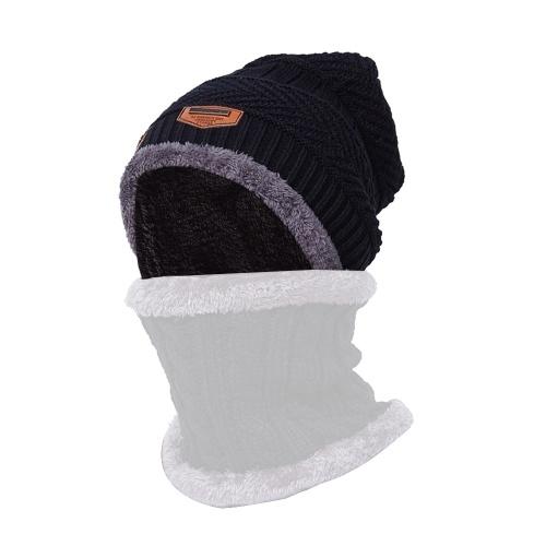 Горячая вязаная шапочка Зимняя плюшевая шляпа