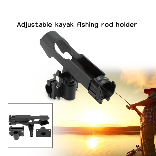 Adjustable Side Rail Installation or Directly Installed on Kayak &amp; Boat Fishing Pole Rod HolderSports &amp; Outdoor<br>Adjustable Side Rail Installation or Directly Installed on Kayak &amp; Boat Fishing Pole Rod Holder<br>
