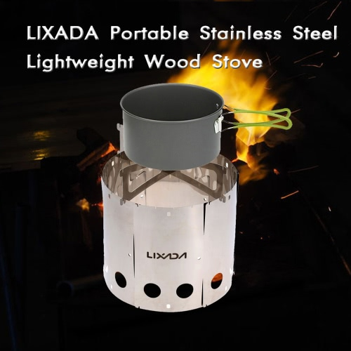Lixada Portable Stainless Steel Lightweight Wood Stove for Outdoor PicnicSports &amp; Outdoor<br>Lixada Portable Stainless Steel Lightweight Wood Stove for Outdoor Picnic<br>