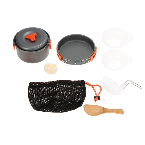 TOMSHOO Outdoor Camping Hiking Cookware Backpacking Cooking Picnic Pot Set Cook SetSports &amp; Outdoor<br>TOMSHOO Outdoor Camping Hiking Cookware Backpacking Cooking Picnic Pot Set Cook Set<br>