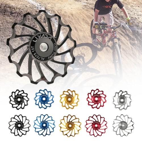 Lixada MTB Road Bike Ceramic Pulley 7075 Aluminum Alloy Rear Derailleur 11T Guide Cycling Ceramics Bearing Jockey WheelSports &amp; Outdoor<br>Lixada MTB Road Bike Ceramic Pulley 7075 Aluminum Alloy Rear Derailleur 11T Guide Cycling Ceramics Bearing Jockey Wheel<br>