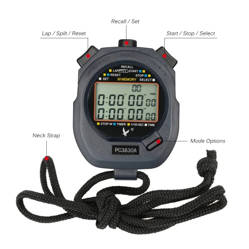 LCD Professional Digital Handheld Chronograph Sports Stopwatch Timer Stop WatchSports &amp; Outdoor<br>LCD Professional Digital Handheld Chronograph Sports Stopwatch Timer Stop Watch<br>
